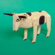 ウッドカービング 牛