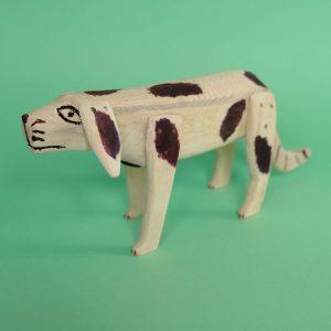 オアハカ ウッドカービング 犬