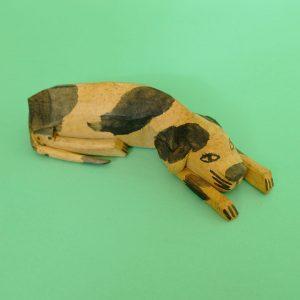 ヴィンテージ オアハカ ウッドカービング 犬