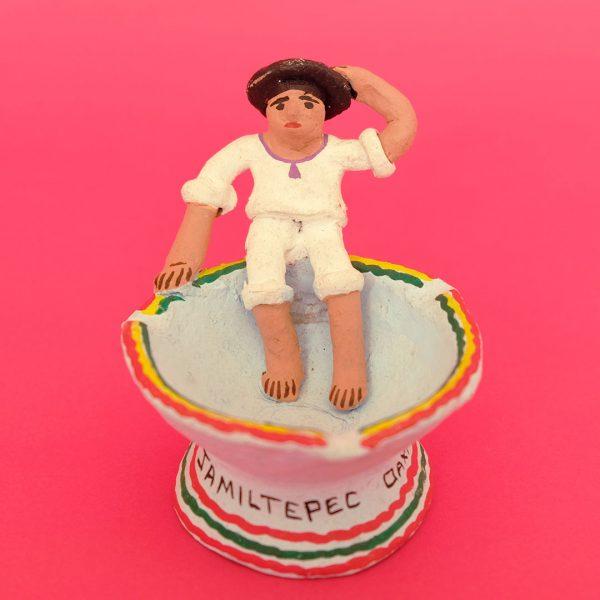ハミルテペック 彩色陶器 土人形