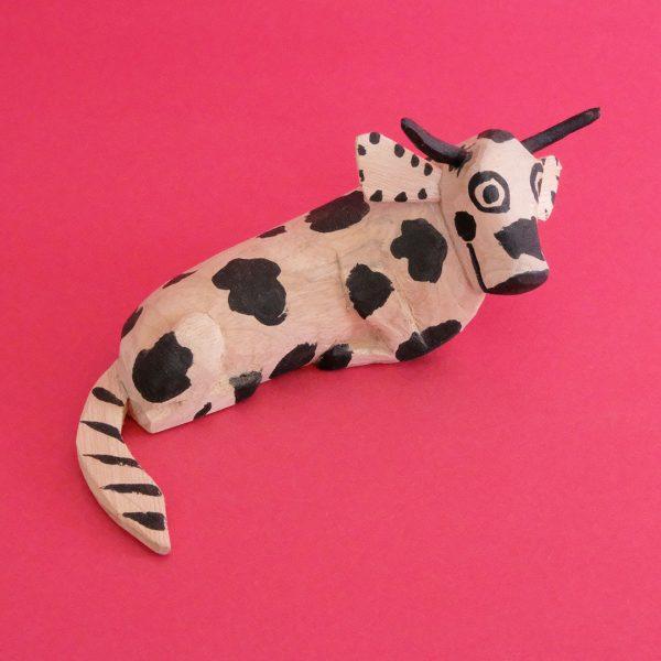 メキシコ ウッドカービング 牛