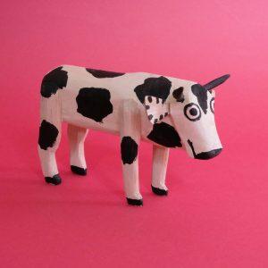 オアハカ ウッドカービング 牛