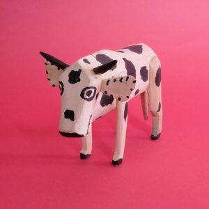 メキシコ 木彫り 牛
