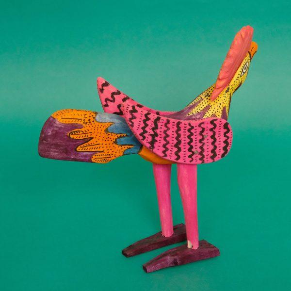 メキシコ 木彫り ニワトリ