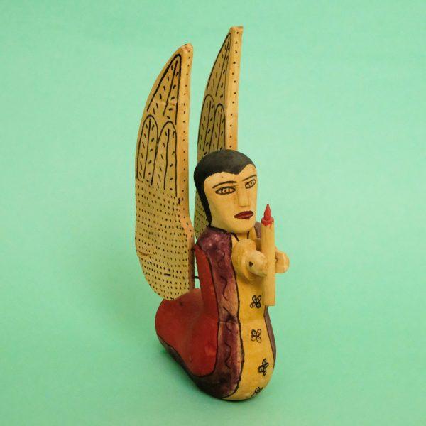 ヴィンテージ メキシコ ウッドカービング 天使