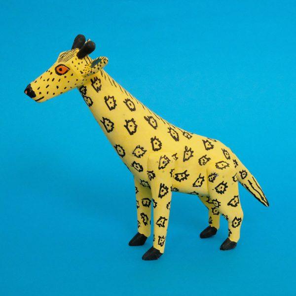 キリン 木彫り 置物