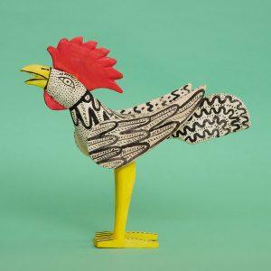 メキシコ ウッドカービング 鳥