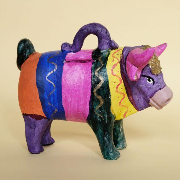 メテペック 土人形 牛