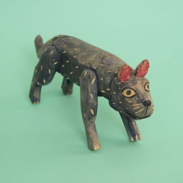 メキシコ オアハカ ウッドカービング 犬 ヴィンテージ