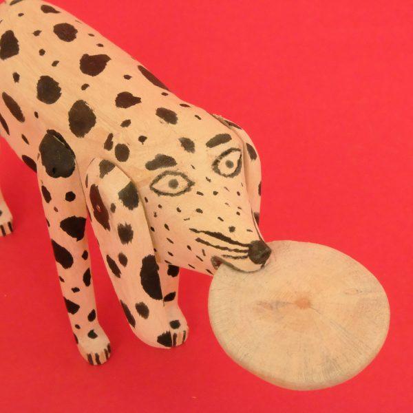 オアハカ 木彫 犬 トルティーヤ