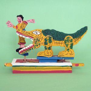 メキシコ 民芸玩具 グメルシンド エスパーニャ ワニ