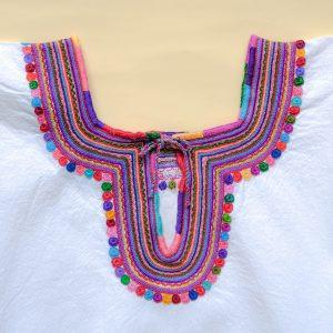 メキシコ マヤ チャムラ 刺繍ブラウス