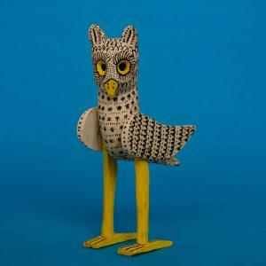 フクロウ 木彫 置物
