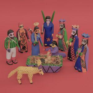 メキシコ クリスマス飾り 人形