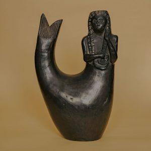 メキシコ 黒陶 人魚 オアハカ