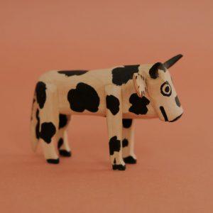 牛 木彫 置物