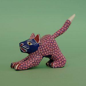 オアハカン ウッド カーヴィング 猫